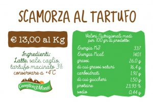 Targhetta Scamorza al Tartufo